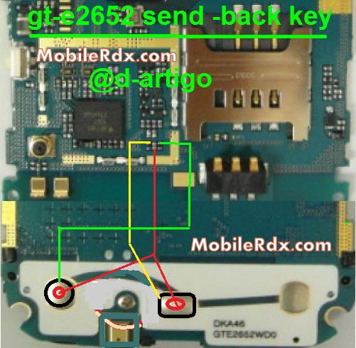 samsung gt-e2652 send-back button ways