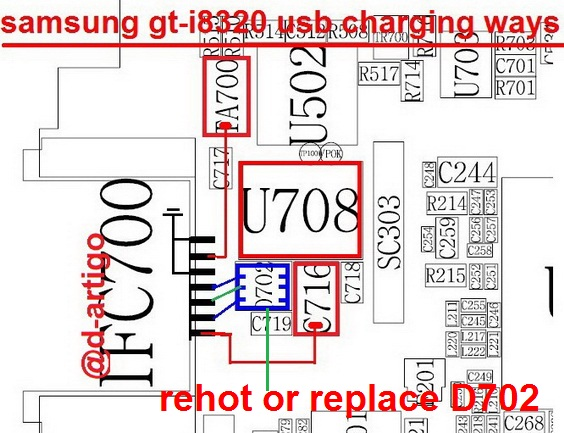 samsung gt-i8320 charging ways usb jumper solution