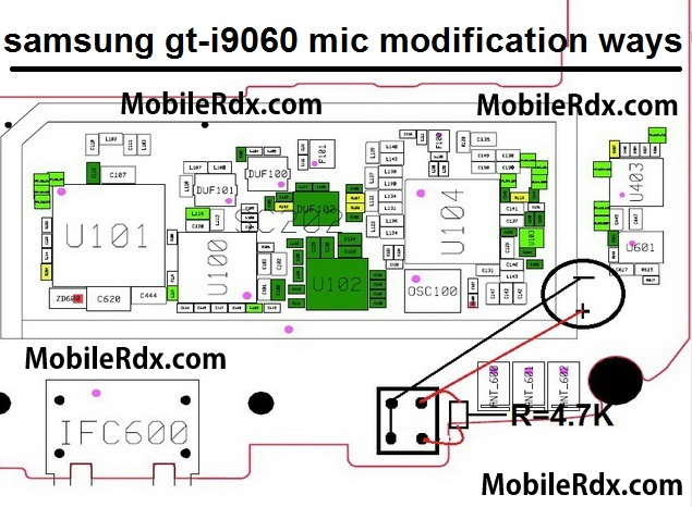 samsung gt i9060 mic modification ways
