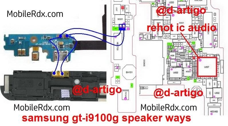 samsung gt-i9100g speaker ways jumper
