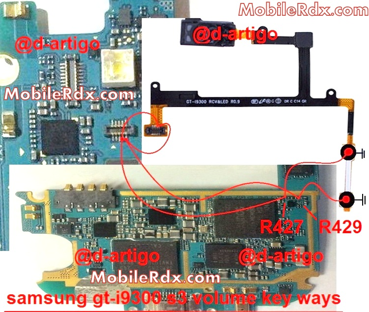 samsung gt i9300 s3 volume key ways up down button jumper - Samsung Galaxy S3 GT-I9300 Volume Button Jumper Repair Ways Solution