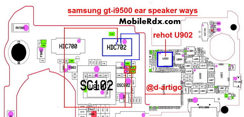 samsung gt-i9500 ear speaker ways