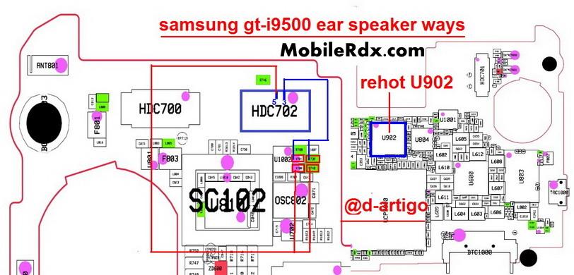 samsung gt i9500 ear speaker ways