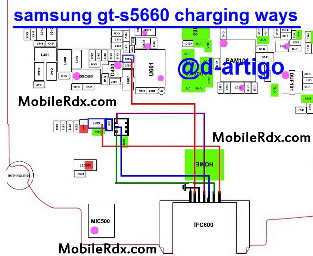 samsung gt s5660 charging ways solution usb jumper