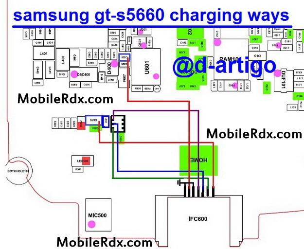 samsung gt-s5660 charging ways solution usb jumper