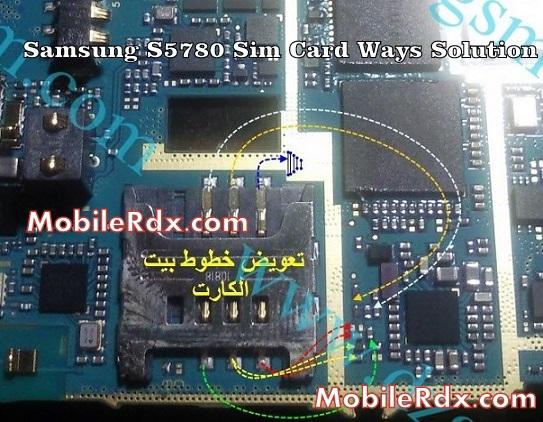samsung gt s5780 sim card ways problem jumper solution