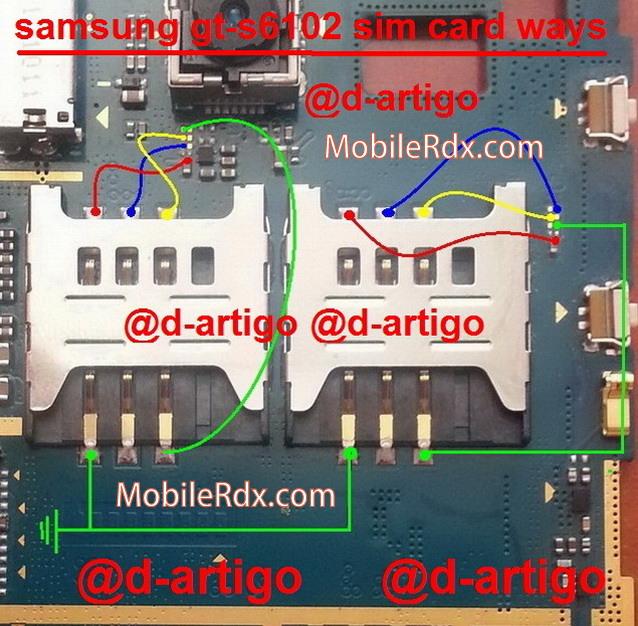 samsung gt s6102 sim card ways jumper solution