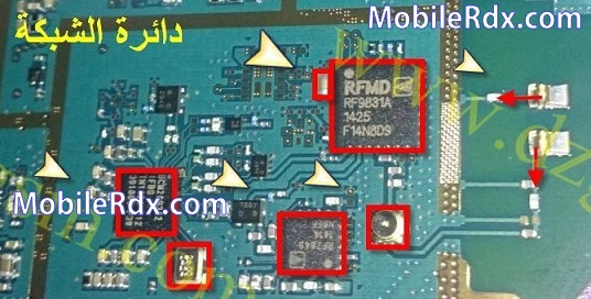 samsung s7390 network ways signal jumper solution