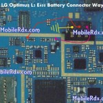 LG Optimus L3 E400 Battery Connecter Ways