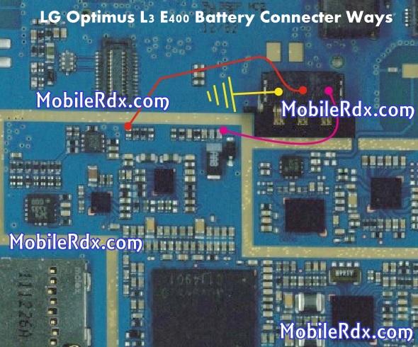 LG Optimus L3 E400 Battery Connecter Ways
