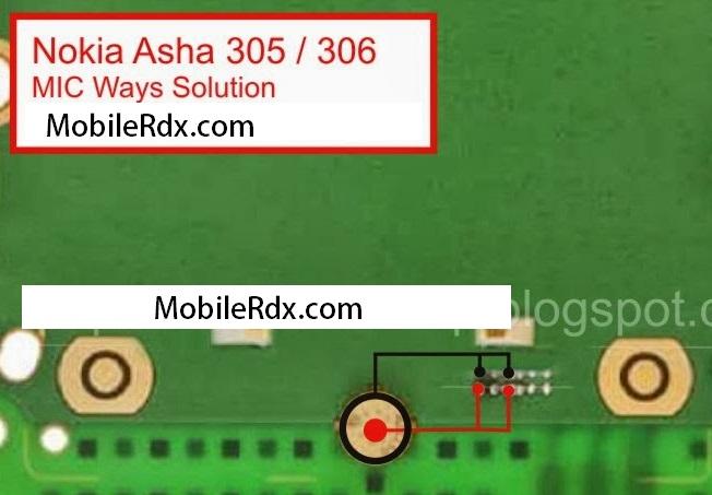 Nokia Asha 306 MIC Ways Jumper Solution