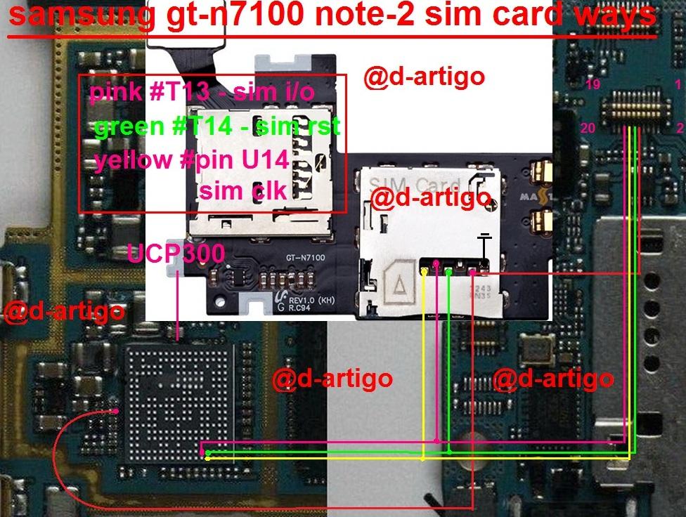 Samsung GT-N7100 Full Sim Card Ways Solution