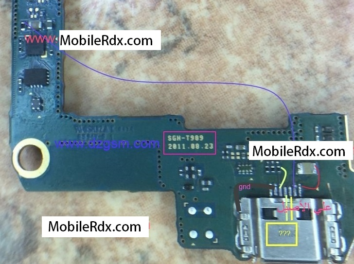 Samsung Galaxy S II T989 Charging Jumper Ways Problem Solution