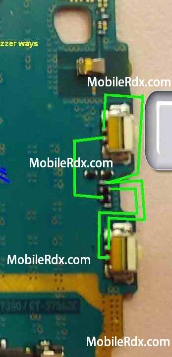 Samsung S7362 Volume Up Down Button Ways Jumper Solution - Samsung Galaxy Trend GT-S7362 Volume Switch Repair Ways Solution
