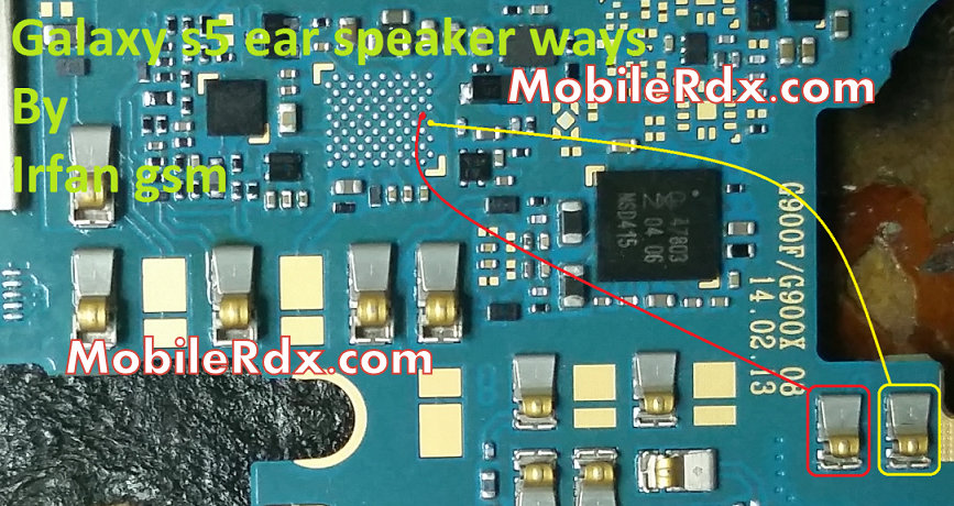 Samsung galaxy s5 G900f ear speaker solution