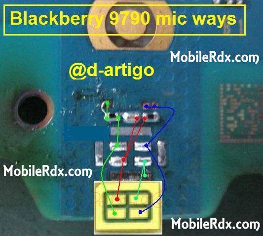 blacberry 9790 mic ways problem jumper solution