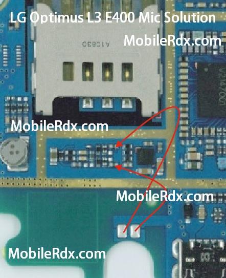 lg e400 mic problem ways jumper solution