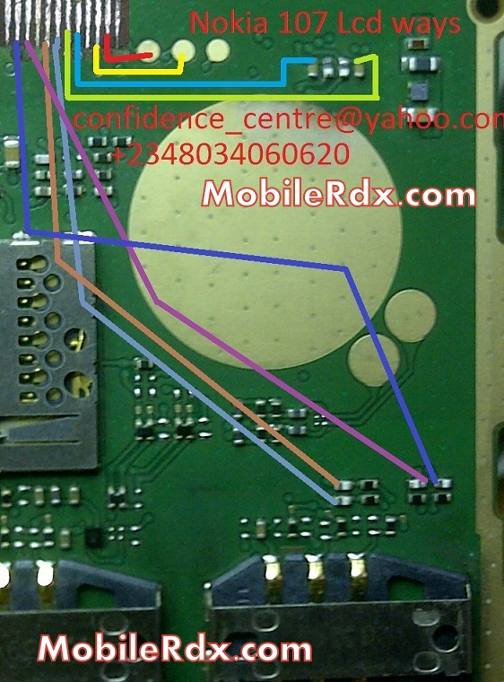nokia 107 full lcd display light track ways solution - Nokia 107 Lcd Display Light Ways Solution Full Track Line Jumper