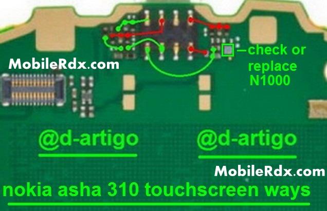 Nokia Asha 310 Touch Not Working Touchscreen Jumper Solution