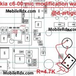 nokia c6-00 mic ways solution modification jumper