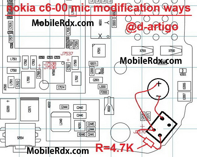 nokia c6-00 mic ways solution modification jumper