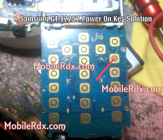 Samsung E2252 Power Key Ways On Off Button Jumper