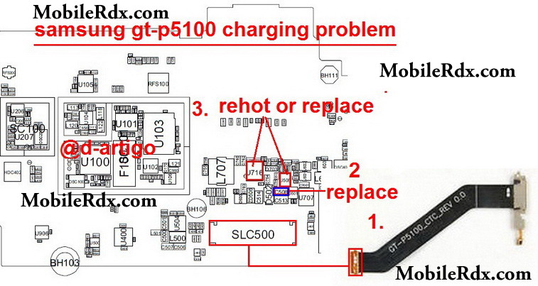 Samsung Gt P5100 Charging Problem Solution on voltage regulator ic