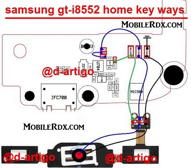 samsung gt i8552 home key ways