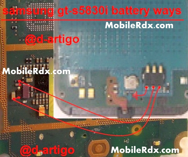 samsung gt s5830i battery connecter point ways - Samsung Galaxy Ace S5830i Battery Connecter Point Ways