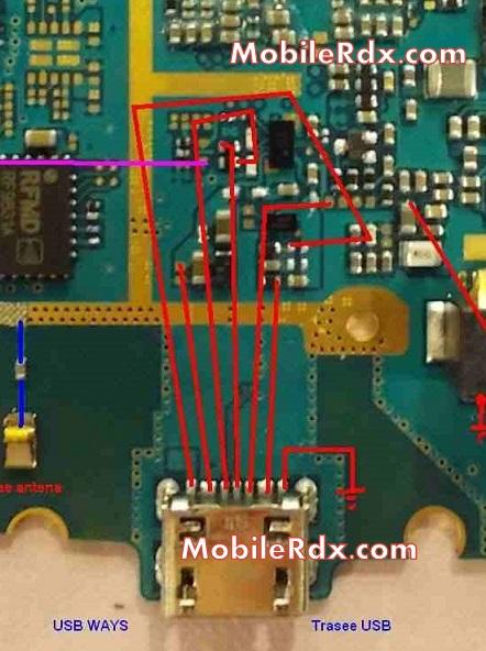 samsung s7362 charging usb Ways Jumper solution