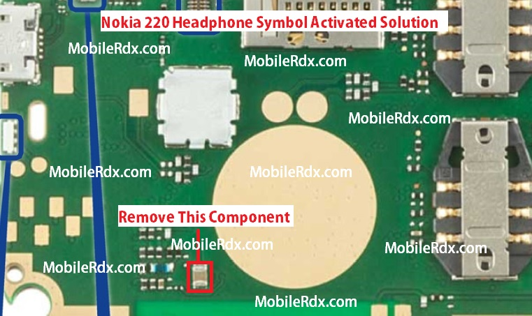 Nokia 220 Headphone Handsfree Mode Activated Solution