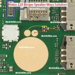 Nokia 220 Ringer Speaker Ways problem Jumper Solution