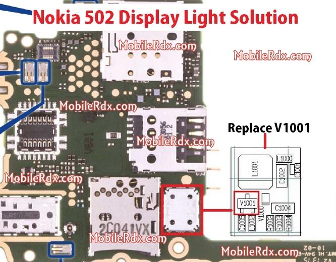 Nokia 502 Display Light Problem Solution