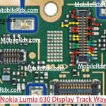 Nokia Lumia 630 Display Light Track Ways Line Solution