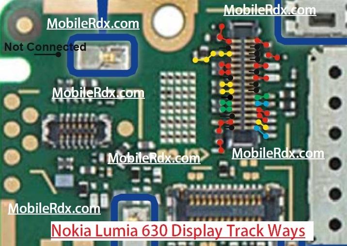 Nokia Lumia 630 Display Light Track Ways Line Solution
