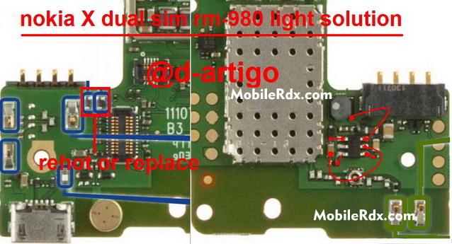 Nokia X Dual Sim Display Light Ways Problem Solution