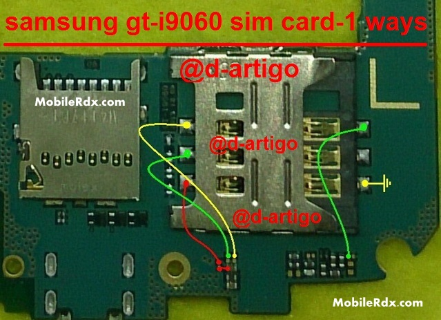 Samsung GT I9060 Sim Card 1 Ways Problem Solution - Samsung GT-I9060 Sim Card Jumper Repair Solution