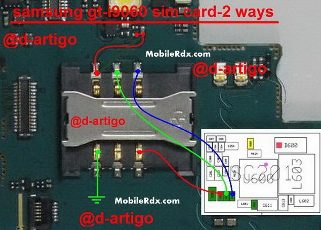 Samsung GT I9060 Sim Card 2 Ways Jumper Problem Solution