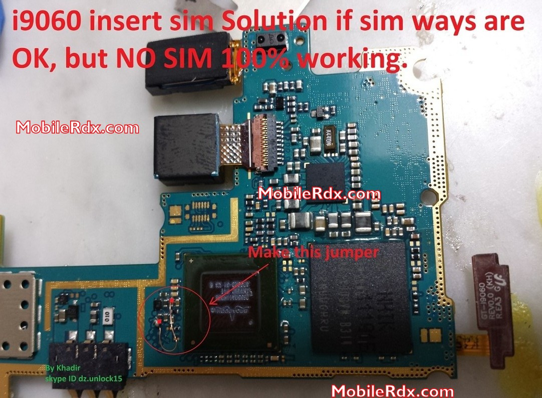 Samsung GT I9060 Sim Card Not Working Problem Solution - Samsung GT-I9060 Sim Card Jumper Repair Solution