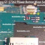 Samsung Galaxy Star Pro S7262 Power Button Ways Problem Jumper