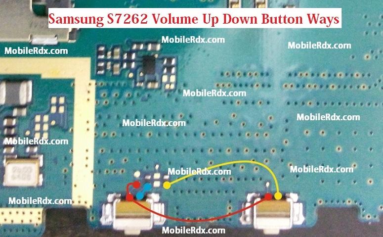 Samsung S7262 Volume Up Down Button Ways Jumper Solution