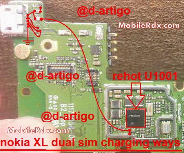 nokia xl dual sim charging ways jumper solution - Nokia XL Dual SIM Charging Ways Problem Jumper Solution