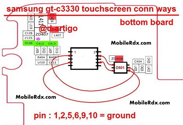 samsung gt c3330 touchscreen connector ways