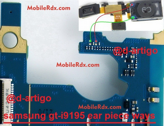 samsung gt-i9195 ear speaker ways