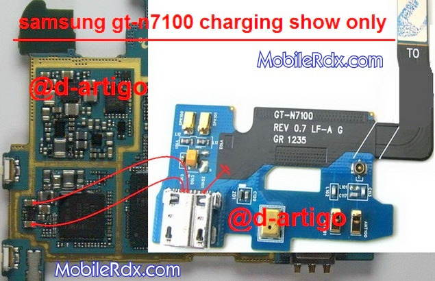 samsung gt m7100 charging ways problem jumper solution - Samsung GT-N7100 Charging Show Only Problem Solution