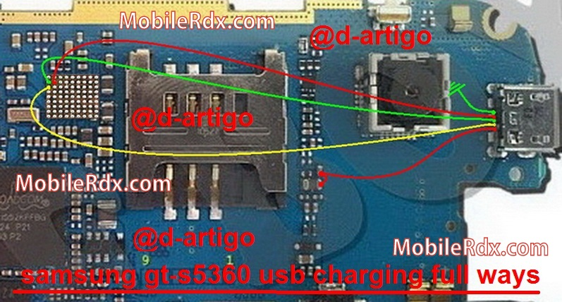 samsung gt s5360 usb charging ways