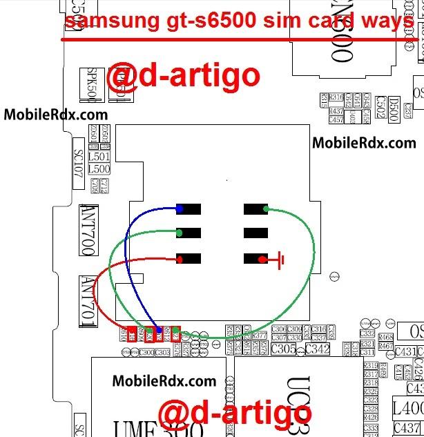 samsung gt-s6500 sim card ways solution