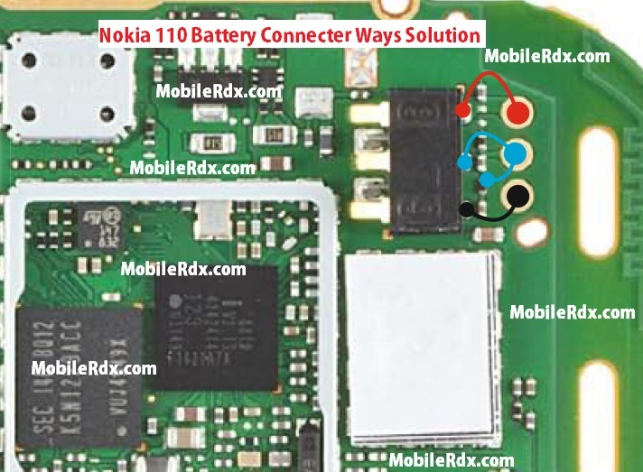 Nokia 110 Battery Connecter Ways Point Jumper