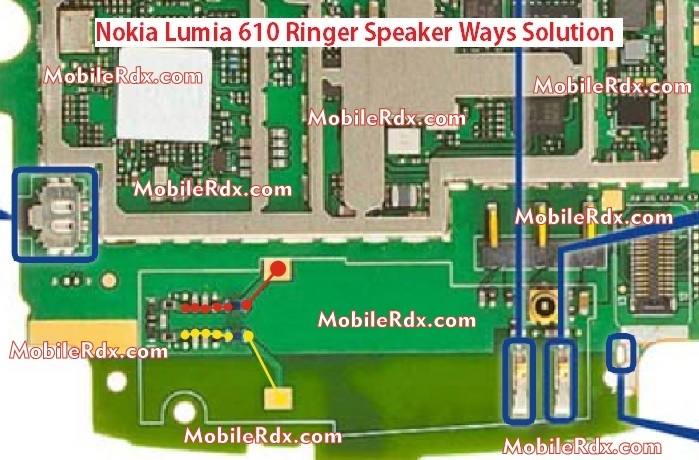 Nokia 610 Speaker Ways Ringer Jumper Solution - Nokia 610 Speaker Ringer Ways Problem Solution