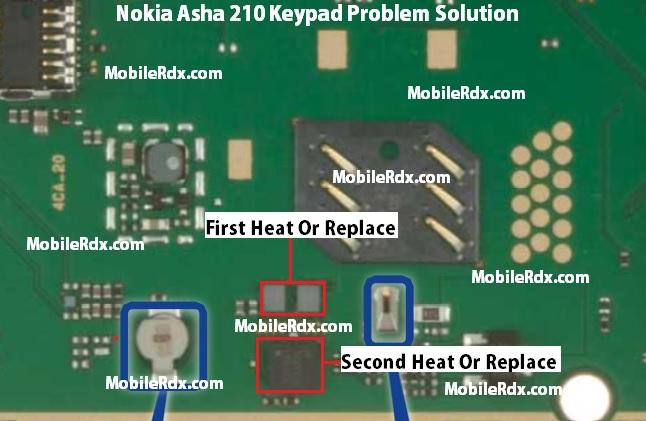 Nokia Asha 210 Keypad Problem Solution - Repair Nokia Asha 210 Keypad Not Working Problem